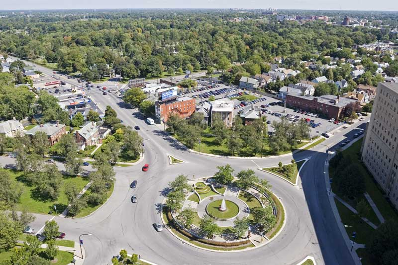 Aerial view of Gates Circle Townhomes